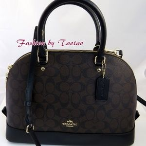 Coach Signature Sierra Satchel Large Brown/Black